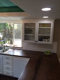 Black Walnut Kitchen Cabinets Kitchen With White Cabinets White Subway Tile And Countertops
