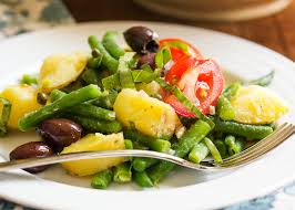 potato and green bean salad nicoise just a little bit of bacon
