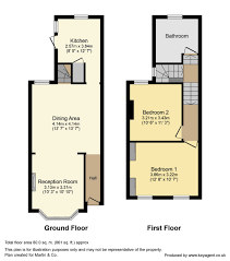 Terraced House Floor Plan by Martin U0026 Co Crystal Palace 2 Bedroom Terraced House For Sale In