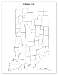 Map Of Michigan City Indiana by Indiana Blank Map