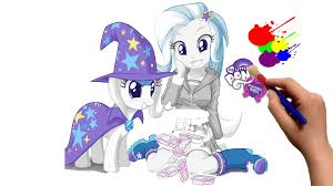 equestria girls mlp trixie my little pony coloring book