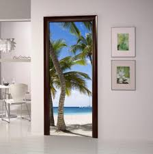 Door Decals For Home by Diy 3d Wall Sticker Mural Bedroom Home Decor Poster Pvc Seaside