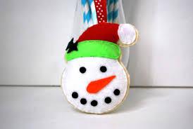 snowman pattern snowman ornament felt snowman