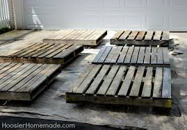 How To Make A Platform Bed With Pallets by How To Build A Wood Pallet Deck Hoosier Homemade