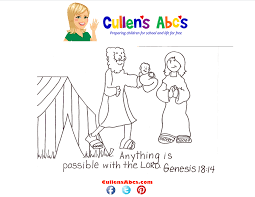 abraham and sarah bible memory verse coloring page online