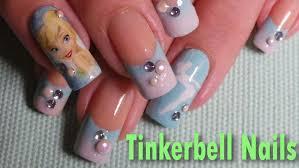 disney inspired tinkerbell nail art tutorial youtube