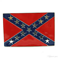 Dixi Flag Confederate Southern South Rebel Dixie Flag Csa Army Big Belt