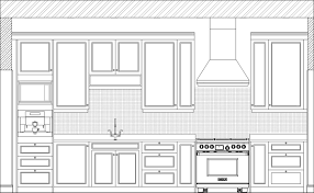 Floor Plan With Elevation And Perspective by Delighful Kitchen Design Elevations Elevation 2 Inside In Kitchen