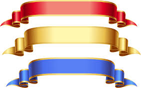 blue and gold ribbon blue ribbon banner clipart clip of banner clipart 1198