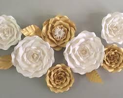 wedding flowers roses large paper flowers etsy