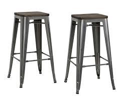 Metal And Wood Bar Stool Dhp Furniture Fusion 30