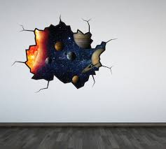 solar system wall decal outer space sticker mural outer space zoom