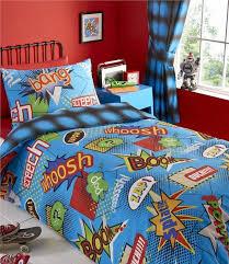 Teal Single Duvet Cover Boys Single Duvet Cover Set Blue Super Hero Comic Book Bedding
