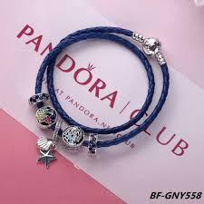 bracelet leather pandora images Pandora leather bracelet with charms jpg