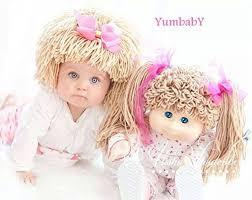 Cabbage Patch Kids Halloween Costume Amazon Cabbage Patch Hat Kids Yarn Wig Halloween Costume