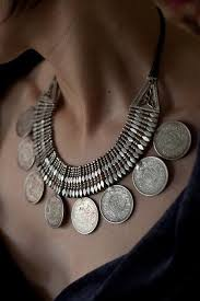 indian metal necklace images Silver rupee necklace from himachal pradesh india from 1920s jpg