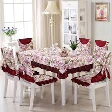 favorable floral lace table cloth chair covers vintage dining set