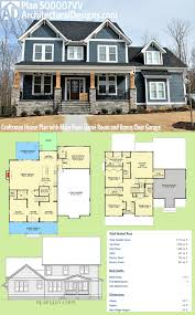 plan 500007vv craftsman house plan with main floor game room and architectural designs craftsman house plan 500007vv has a sturdy front porch with stone and timbers