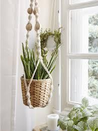 how to grow a window garden and create a macramé plant hanger