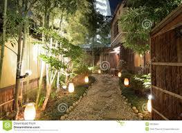 lit gravel walkway royalty free stock photography image 20526647