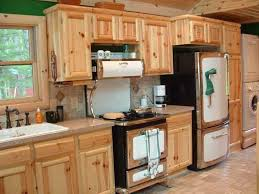 kitchen cosy hickory kitchen cabinets wall oven fridge freezer