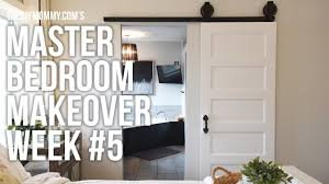 master bedroom makeover week 5 barn door installation one
