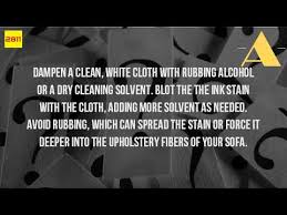 Dry Cleaning Solvent Upholstery Cleaner How Do You Get Pen Out Of A Couch Youtube