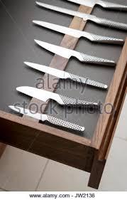 Modern Kitchen Knives Knives In Kitchen Knife Drawer Stock Photo 18693421 Alamy