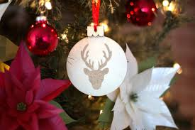 embossed stag christmas ornament