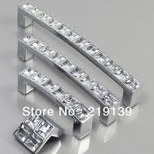 10pcs 96mm clear crystal zinc alloy bathroom kids dresser knobs