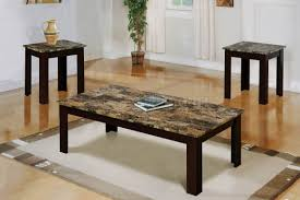 Coffee Table Set Maintaining Beauty Of Faux Marble Coffee Table