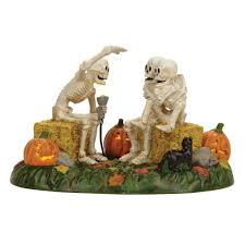 department 56 halloween decorations department 56 u2013 scary skeleton stories wooden duck shoppe