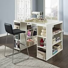 Diy Craft Desk With Storage by Sullivan Counter Height Craft Table Espresso Hayneedle