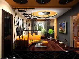 Living Room Design Ideas Night Of Halloween With Combination Of - Orange interior design ideas