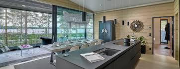 interieur maison bois contemporaine maisons en bois massif design contemporain ou traditionnel