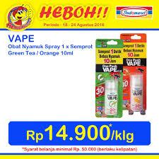 Obat Nyamuk Vape promo harga heboh indomaret vape obat nyamuk spray hanya rp 14 900