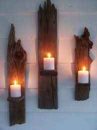 Driftwood Wall Sconce Set Of 3 Driftwood Candle Wall Sconces Driftwood Wall Sconces