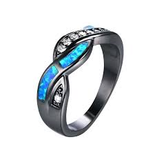 black and blue wedding rings blue and black diamond rings s black and blue wedding ring set