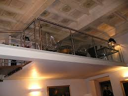 ringhiera soppalco ringhiera in metall e vetro per soppalco in ambiente classico