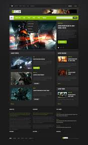 game portal website template 40172