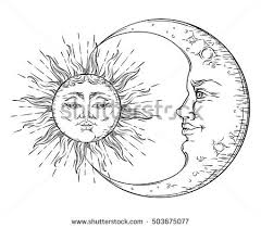sun and moon vector elements free vector stock