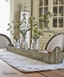 dining simple dining table decor using fake flower also set of