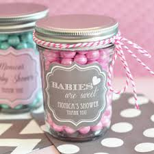 jar baby shower ideas personalized baby mini jars favor bottles and tins favor