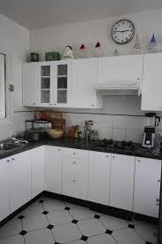 cuisine noir et blanc carrelage noir blanc stunning attrayant cuisine blanche et