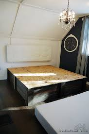 Make Your Own Platform Bed Frame build your own platform bed frame diy grandmas house diy