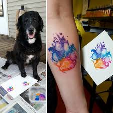 the dog paw print tattoos are now on trend and they u0027re awesome