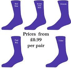 Best Man Socks Purple Luxury Cotton Rich Wedding Socks Groom Best Man Usher Ebay