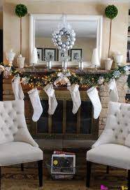 decorating magnificent christmas fireplace mantel decor