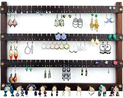 earring necklace organizer images Wall mount earring holder jewelry organizer tomsearringholders jpg