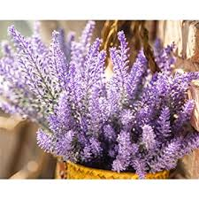 Lavender Home Decor Amazon Com Unilove Artificial Lavender Bouquet Fake Lavender